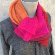écharpe mohair:soie pink
