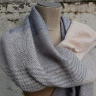 Etole tissée (laine mérinos, mohair et soie)