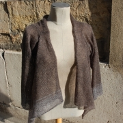 cardigan taupe/gris cendre