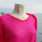 pull mohair pink