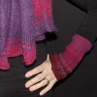 manchons feutrés (tissage de laine et coton)